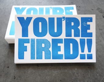 You're Fired, The Ides of Trump, Set of 10 Protest Postcards