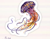 Jellyfish vinyl sticker