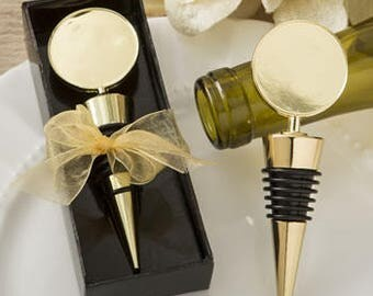 Wedding Favors, Wine Bottle Topper, Personalized, custom designs or photos NOW AVAILABLE in GOLD
