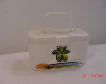 Vintage Miniature Plastic Moonglow Product Little Purse Or Storage Box