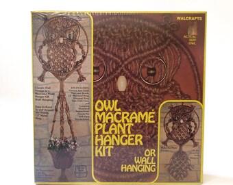 Vintage Macramé Owl Wall Hanging Kit