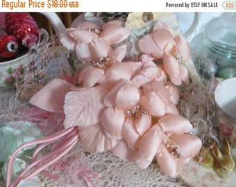 ON SALE Vintage Ladies Hat-Loaded with Millinery-Pink-Derby-Easter-AWESOME Hat-Union Made