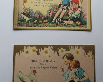 Store Closing SALE Antique Easter Postcards-Unique-1930's