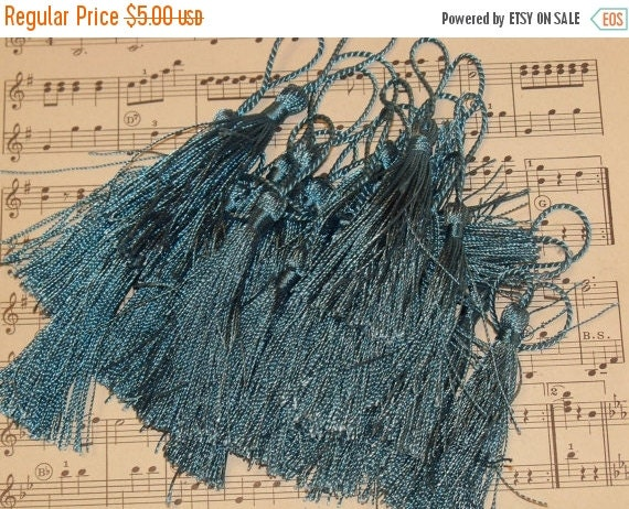 ON SALE French Tassels-DIY-Garland-Bunting-Supplies-Marie Antoinette-6 pieces-Regal Peacock