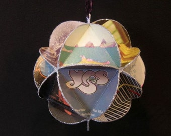 Yes Band Album Cover Ornament Made Of Record Jackets - Roger Dean Art