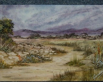"7x5"" watercolour landscape art painting original (ref 399)"