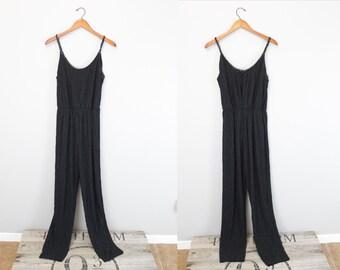 Vintage Black spaghetti strap jumpsuit Romper