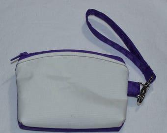 Handy Purple Glow-in-the-dark wristlet pouch