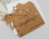 Pregnancy Announcement Card Tag Personalised You are going to be