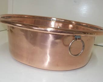 fabulous antique french copper basin artisan made copper sink 4851s