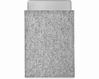 MacBook Air 13 case, MacBook Air 13 inch cover, MacBook Air 13 inch sleeve 100% pure wool felt undyed natural Grey