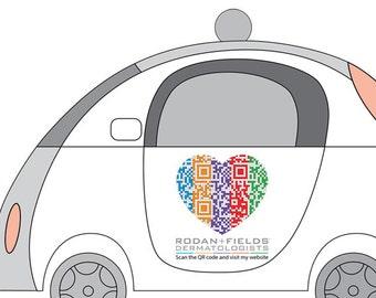 Digital file only - Custom R+F sticker decal design - Custom Rodan + Fields QR code logo design, promote R+F Independent Consultant website