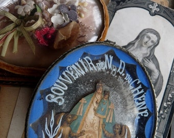 Antique French Religious Nun Relics, Celebrating the Marian Mysterium, offered by RusticGypsyCreations