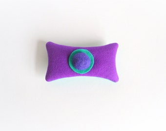 lavender sachet made of felt, purple and teal felt lavender sachet, coworkers gift, arty hostess gift, bright dresser decor, lavender
