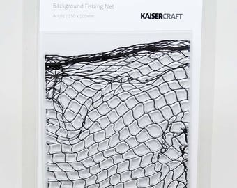 KaiserCraft Background Collection Clear Stamps -- Acrylic -- Fishing Net