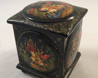 Russian Lacquer Box | Hand Painted | 1999 | Russian Box Collector | Authentic