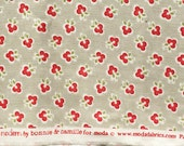 Vintage Modern Bonnie & Camille clover flowers gray moda fabric FQ or more OOP HTF