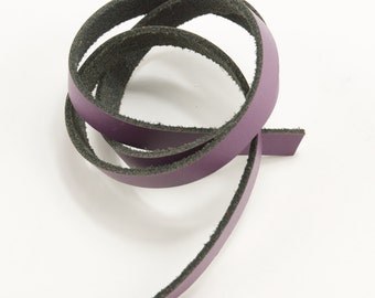 Dark Purple Leather Strips
