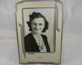 Vintage Photograph of a Woman in a Universal Studios Cardboard Frame