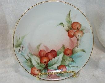 Vintage J & C Currants Cherries Fruit Berries Dessert Plate Bavaria