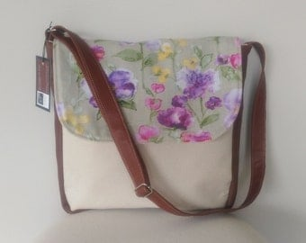 Messenger: Canvas, Leather and Floral