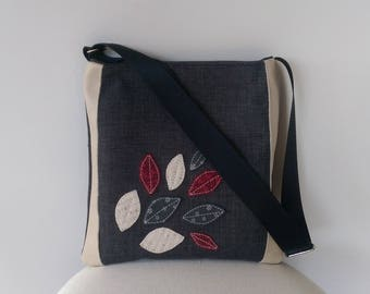 Tote: Leaves and Leather