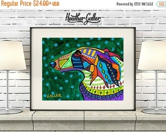50% Off Today- Russian Wolfhound Art Dog  Art Print Poster by Heather Galler (HG809)Digital File