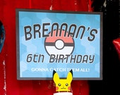 Pokemon Inspired Birthday Poster 24x30 inches - CUSTOMIZED