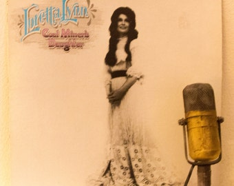 "ON SALE Loretta Lynn Vinyl Record Album LP 1970s Country Western Queen Vocals Kentucky Roots ""Coal Miner's Daughter"" (1980's Mca re-issue)"