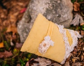 Goldenrod pillow set. OOAK