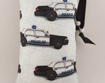 Padded Bag, Pipe Bag, Pipe Pouch, Pipe Cozy, Size med, Police, Police Car, Cops, 420,  Print, Cover, Case, Protective, Girly Glass