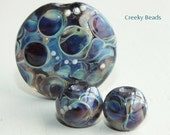 Handmade Lampwork Focal bead - 'Throwback!' - Creeky Beads SRA