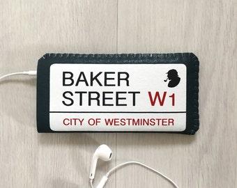 iPhone 7 Case, iPhone 6/6S Case, iPhone 5/5S Case, iPhone 5C Case - Baker Street Sherlock Holmes London Street - Felt iPhone Sleeve