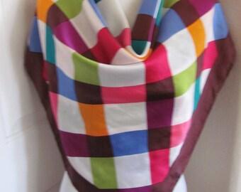 "Scarf Amazing Colorful Super Soft Silk Scarf  // 34"" Inch 88cm Square"