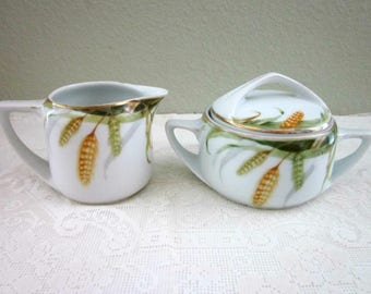 Rosenthal Selb Bavaria Donatello Cream & Covered Sugar Set, Wheat Pattern - Collectibles - Country Chic Kitchen - Bobann23 Vintage