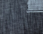 Dark Medium Weight Slub Look Stretch Denim, 1 yard