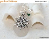ON SALE FREE Shipping Sea Glass Necklace - White Glass Necklace - Lake Erie Beach Glass Jewelry - Snowflake Necklace