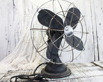 Vintage Westinghouse Fan, Iron Base, Non-working