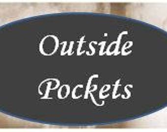Add Outside Pockets to your organizer