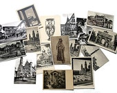 Lot 16 Postcards Black and White European Art Pre 1960s/Old Europe Postcards Unused