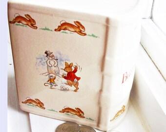 Bunnykins Baby Bank - Beatrix Potter Book Shaped Royal Doulton