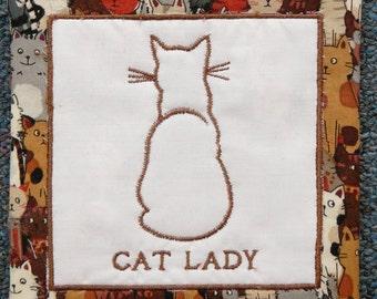 Mug Rug - Cat Lady