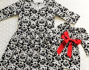 Ikat Mommy and Me Dresses - Mommy and Me Valentines Dresses - Mommy and Me Outfits - Mother Daughter Dresses - Matching Dresses - Handmade