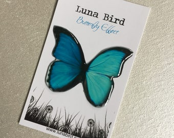 Butterfly Effect Brooch, Two Tone Blue (TTBB8) by Luna Bird for the 1200 Butterfly Wall at Butterfly Effect Exhibition