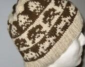 Wool Hat:Space Invaders in Brown