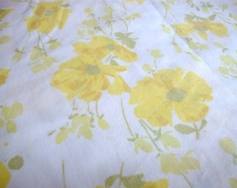 Vintage Twin Flat Sheet Yellow Cosmos by Morgan Jones
