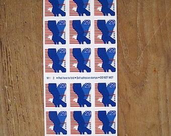 Unused Booklet of 18 Eagle US Postage Stamps