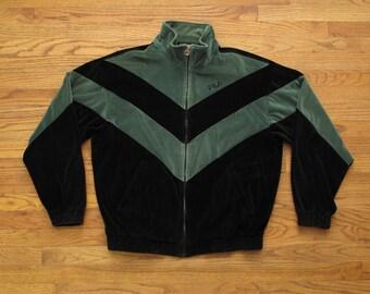 vintage FILA velour track jacket
