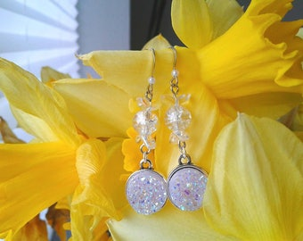 Sailor Moon Earrings - Princess Serenity - Czech Glass, Fairy Kei, Moon Princess