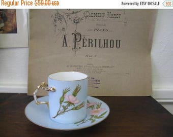Spring Clearance SaLe Antique Demitasse Cup Floral Teacup - Fragonard Inspired